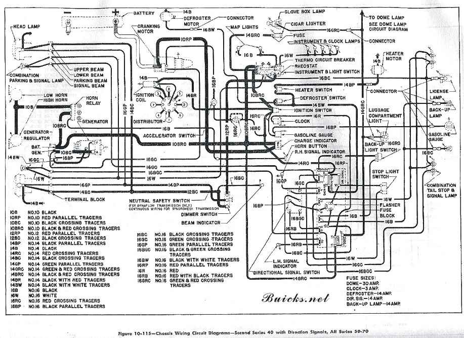 wiring_1950 1950 buick wiring diagram, roadmaster, super, special 12 Volt Relay Wiring Diagrams at gsmx.co