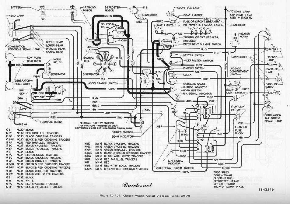 1951 buick models wiring diagram series 50 series 70