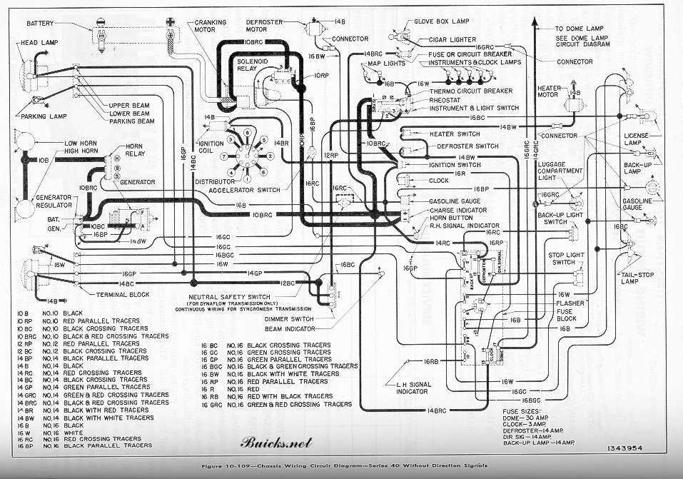 1952 buick models wiring diagram series 40 out signals