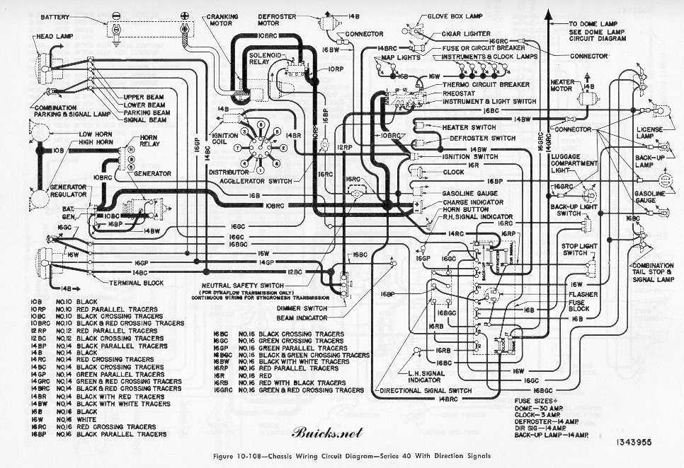buick models wiring diagram series 40 signals